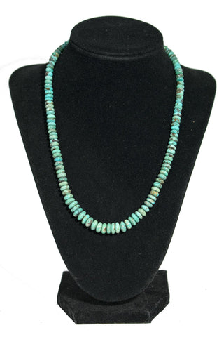 Single Strand Turquoise Disk Necklace by Lester Abeyta