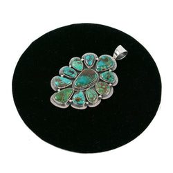 Turquoise Cluster Pendant by Curtis Pete