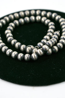 "Oxydized 7mm 18"" Beads"