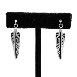 Prayer Feather Earrings by Pat Tewawina