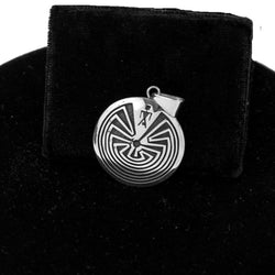 Man in a Maze Pendant by Pat Tewawina