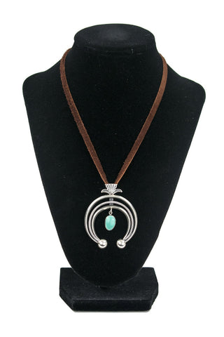 3-Wire Turquoise Pendant Necklace by Curtis Pete