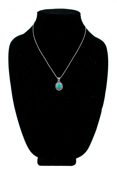 Single Stone Sunburst Necklace by Curtis Pete