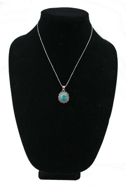 Small Concho with Turquoise Necklace by Curtis Pete