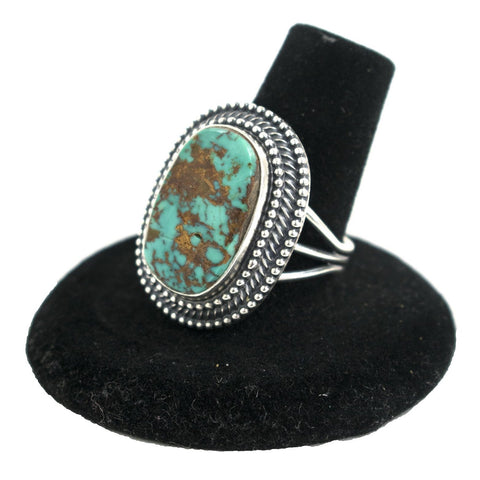 Pilot Mountain Turquoise Ring by Curtis Pete (Size 8.5)