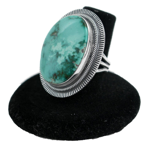 King's Manassa Turquoise Ring by Curtis Pete (Size 7)