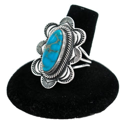 Ithaca Turquoise Ring by Curtis Pete (Size 7.5)