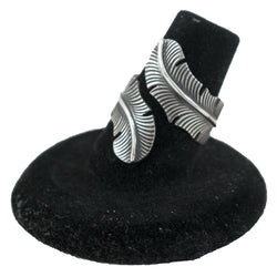 Sterling Silver Feather Ring by Curtis Pete (Sizes 6 & 7, Adjustable)