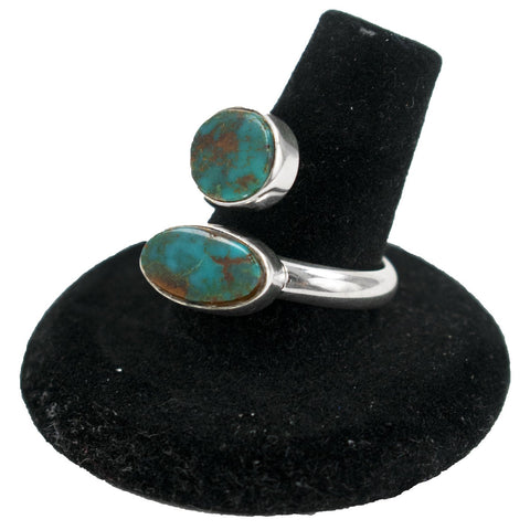 Pilot Mountain Turquoise Adjustable Ring