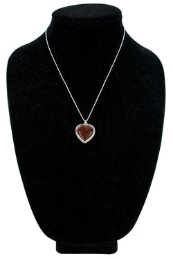 Carnelian Heart Necklace by Nathan George