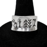 Stamped Sterling Silver Ring by Norbert Peshlakai (Size 8.25)