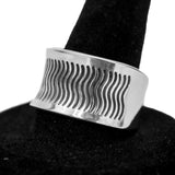 Stamped Sterling Silver Ring by Norbert Peshlakai (Size 9)