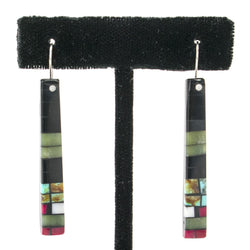 Multistone Earrings by Charlene and Frank Reano