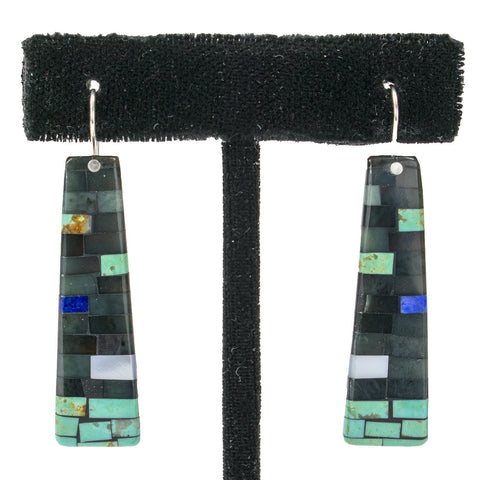 Mosaic Earrings by Charlene and Frank Reano