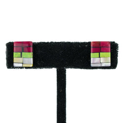 Mosaic Square Earrings by Janalee Reano