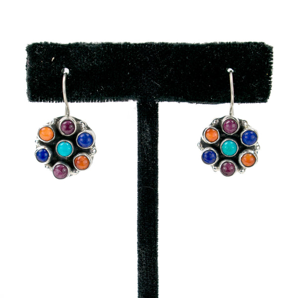 Flower Stone Earrings by Clarissa Hale