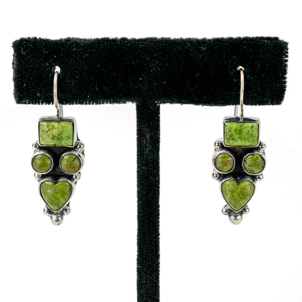 Gaspeite Earrings by Clarissa Hale