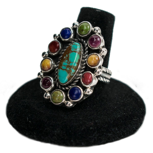 Multistone Cluster Ring by Clarissa Hale
