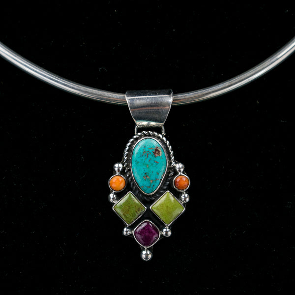 Multistone Pendant by Clarissa Hale (Choker not included)