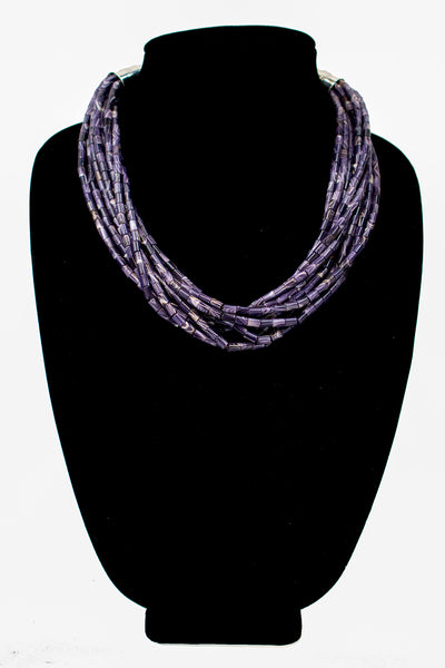 9-Strand Wampum Adjustable Necklace by Nestoria Coriz