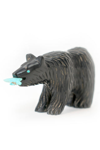 Jet Bear with Fish Carving by Farlan Quam