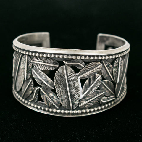 Feathers Cuff by Bernice Chavez
