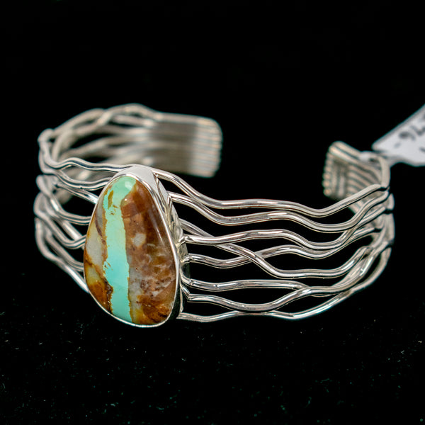 Turquoise Branches Cuff by Rose Martin