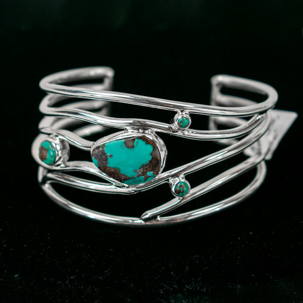 Cast Royston Turquoise Cuff by Akee Douglas