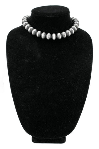 Sterling Silver Oxidized Navajo Pearls by Rose Martin