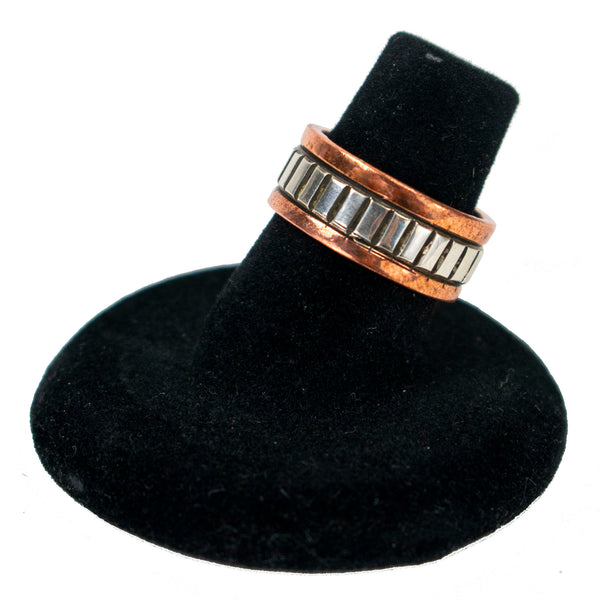 Sterling Silver and Copper Ring by Randy Secatero & Sylvana Apache (Sz. 6)