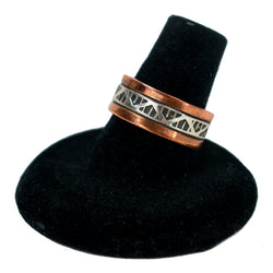 Sterling Silver and Copper Ring by Randy Secatero & Sylvana Apache (Sz. 7)