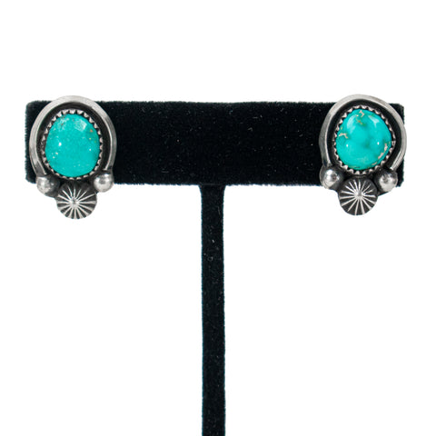 Shadowbox Turquoise Earrings by Jeannette Dale