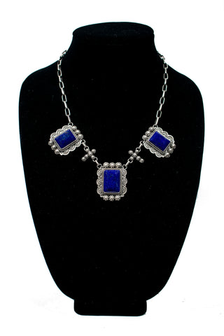 Baroque Style Lapiz Lazuli Necklace by Mary Ellen