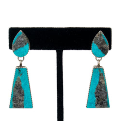 Stabilized Kingman Turquoise Earrings by Selena Warner