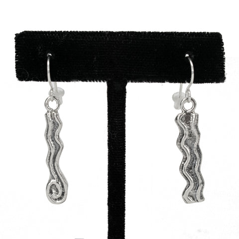 Sterling Silver Sandcast Earrings by Jonah Hill