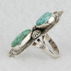 #8 Turquoise Multistone Stamp Ring