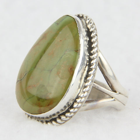 Royston Cab & Sterling Silver Twistwire Ring