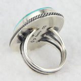 Sterling Silver Kingman Rope Frame Ring