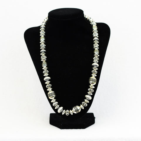 Sterling Silver Assorted Bead Necklace