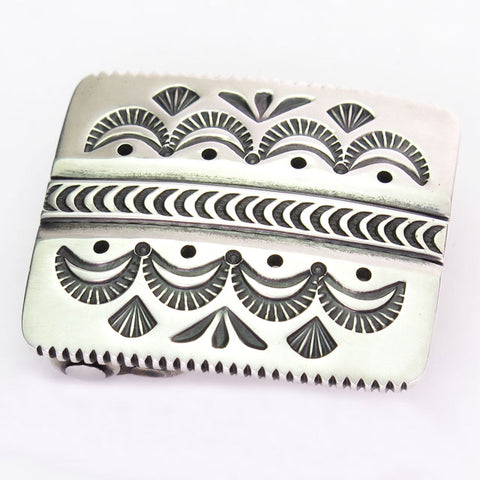 Stamped Navajo Belt Buckle
