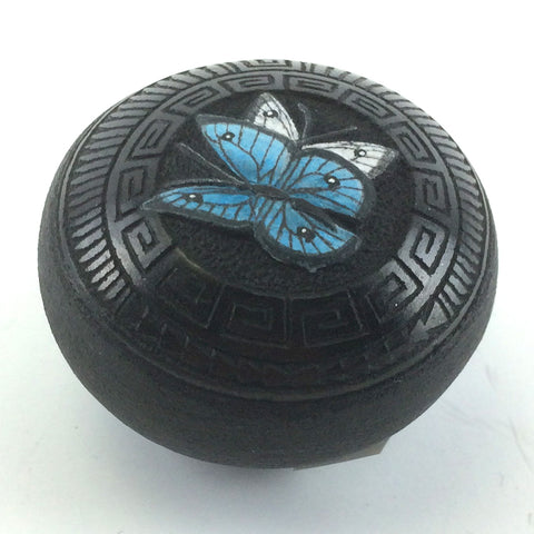 Miniature Black Butterfly Pot