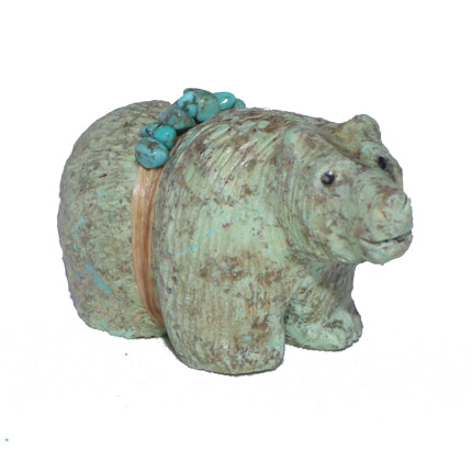 Turquoise Bear Fetish Carving