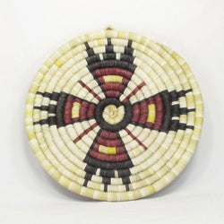 Hopi Feather Design Coil Plaque