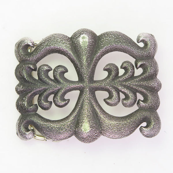 Sandcast Sterling Silver Belt Buckle