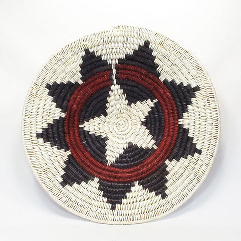 Three-Banded Navajo Sumac Ceremonial Wedding Basket