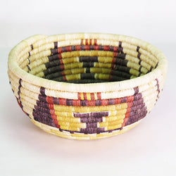 Hopi Crow Mother & Clouds Yucca Coil Bowl