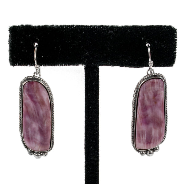 Purple Spondylus Earrings by Shane Casias