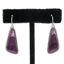 Purple Spondylus Shell Earrings by Shane Casias