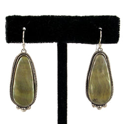 Mother of Pearl Earrings by Shane Casias