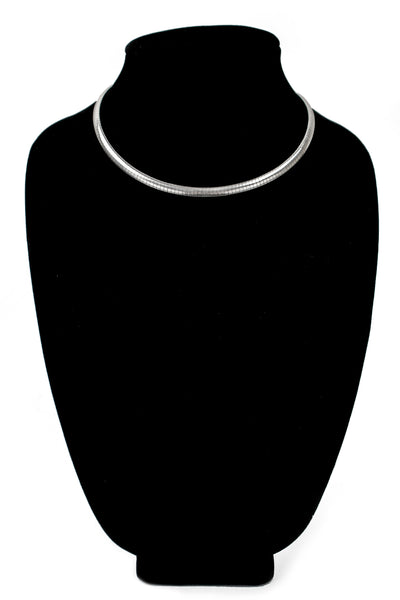"Sterling Silver Choker Necklace (6mm, 18"")"